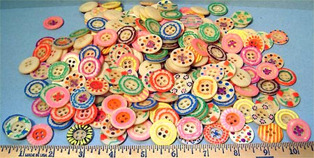 Painted buttons