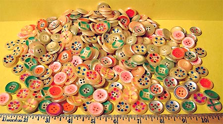 Painted buttons.a