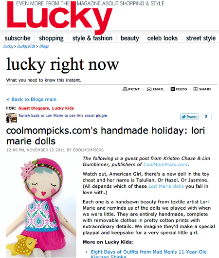 Luckymag feature