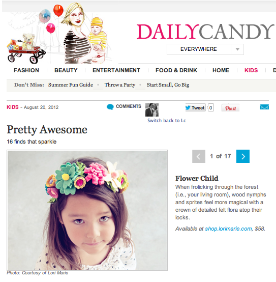 Daily Candy Kids Flower Crown