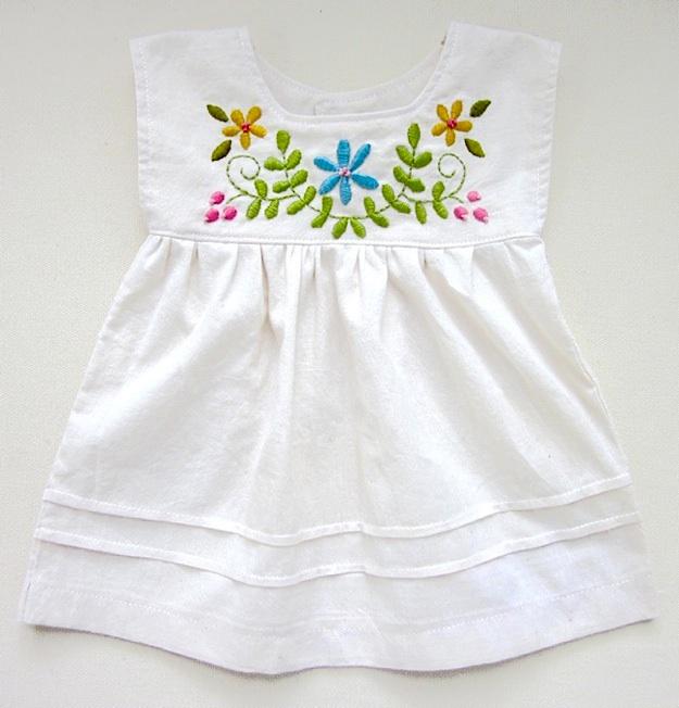 Emb baby dress